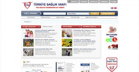 <h3>Türkiye Sağlık Vakfı</h3> <br /> <br /> <br /> - Özel Tasarım<br /> - PHP Kodlama<br /> - XHTML & CCS<br /> - V3.0 Yönetim Paneli<br />