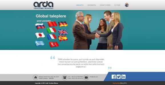 <h3>Arda Tercüme Bürosu</h3> <br /> <br /> <br /> - Özel Tasarım<br /> - PHP Kodlama<br /> - XHTML & CCS<br /> - Responsive Dizayn<br /> - V4.0 Yönetim Paneli<br />